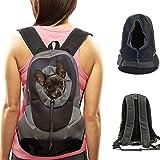 DOBO® Zaino da spalle trasportino doppia spalla per animale domestico cane gatto borsa per il vostro cucciolo - Colore nero-grigio
