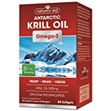 Best Krill Oil Supplements - Natures Aid 500mg Krill Oil Capsules - Pack Review
