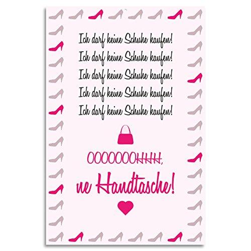 Cuadros Lifestyle Wanddekoration Blechschild 'Ich darf Keine Schuhe kaufen!.', Größe:ca. 30x45 cm