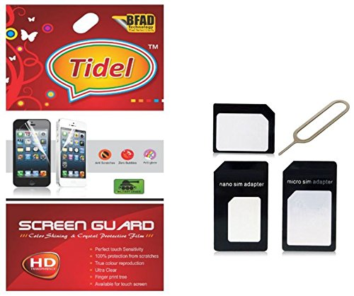 Tidel Ulta Clear Screen Guard for Micromax Canvas Fun A74 With Micro/Nano Sim Adapter  available at amazon for Rs.129