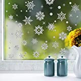 Amphia - Schneeflocke Wandaufkleber weiß,Restaurant Mall Dekoration Schnee Glas Fenster Abnehmbare Aufkleber