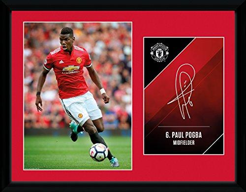 GB Eye, Manchester United, Pogba 17/18, Foto incorniciata 30x40 cm