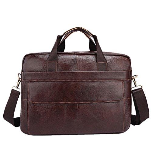 Echtes Rindsleder Mens Business Briefcase Laptop Taschen für Männer Reisetasche Portfolio Mann Männer Schultertasche Handtasche - Business Portfolio Briefcase