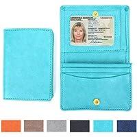 stile di business pu carta di credito in pelle supporto di carta del raccoglitore per gli uomini e le donne dell'annata caso Bag con ID finestra LOELMALL