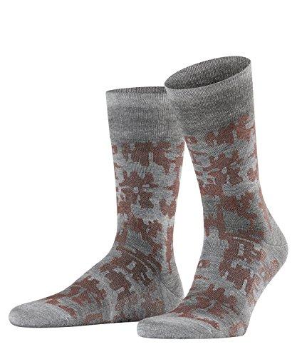 FALKE Herren Socken Brickwall, Grau (Light Greymeliert 3390), 45-46 Preisvergleich