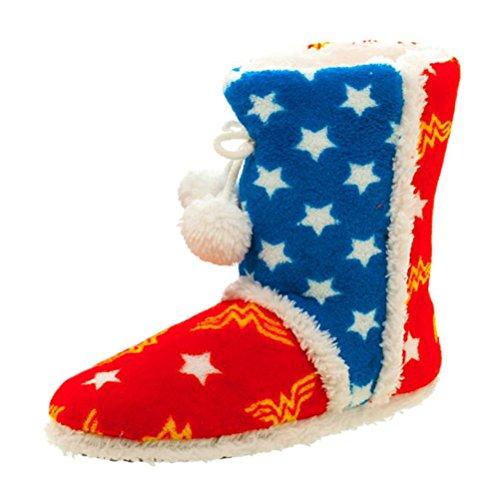 Licenza ufficiale DC Comics Wonder Woman design super morbido peluche Boot pantofole