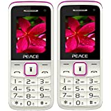 Peace Knight White Pink+ Knight White Pink COMBO OF TWO Mobile Phones With 1.8 Inch, Dual Sim, 850 MAh Battery, Wireless FM, Bluetooth, Digitel Camera, Call Recording, MP4, Internet & 1 Year Warranty
