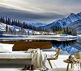 Wxlsl Custom 3D Wandbilder See Berge Winter Landschaft NaturHotel Wohnzimmer Sofa Tv Wand Schlafzimmer Tapete-300Cmx210Cm