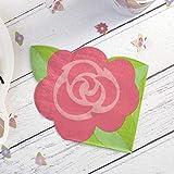 Hatton Gate Tovaglioli a Tema Unicorn a Forma di Rosa 20 Tovaglioli per Confezione