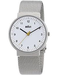 Braun Unisex-Armbanduhr BN0031WHSLMHL Analog Quarz Edelstahl 66527