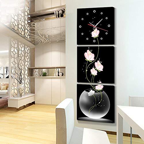 YUEQISONG Modernes Wohnzimmer Sanlian Frameless Malerei Wanduhr Meter Box Cover Malerei Wandkunst,...