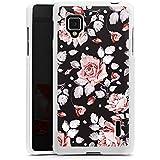 LG Optimus G Hülle Silikon Case Schutz Cover Rosen Blumen Muster