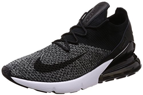 competitive price 86b47 c4e5b NIKE Air Max 270 Flyknit, Chaussures de Fitness Homme, Noir Black White 001