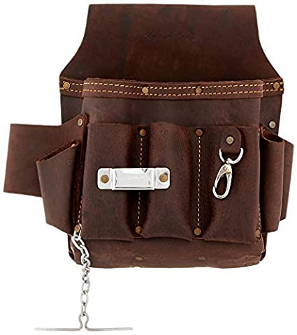 Style n Craft 70-603 10 Pocket Heavy Duty Oiled Top Grain Leather Electrician's / Contractor's Tool Pouch by Style N Craft