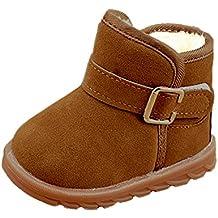 Minetom Unisexo Invierno Bebé Niños Botas Térmico Súper Suave Niña Niño Nieve Botas Velcro Botines