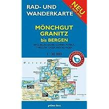 Rad- und Wanderkarte Mönchgut, Granitz, bis Bergen: Mit Binz, Sellin, Baabe, Göhren, Gager, Middelhagen, Thiessow. Maßstab 1:30.000. Wasser- und reißfest.