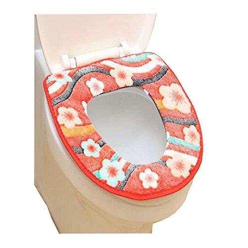 Klassische Blumen-Muster-Art-Toiletten-Matte / antibakterielle Hocker-Abdeckungen