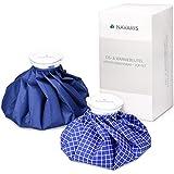 Navaris bolsas de hielo y calor - set de 2 - alivio de lesiones - enfriamiento de músculos - reutilizable caliente y fría - blanco y azul
