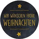 AVERY Zweckform 3846 Frohe Weihnachten Etiketten auf Rolle, Geschenk Sticker selbstklebend (Ø38 mm, im Spender, zuverlässig haftend, rund) 200 Aufkleber