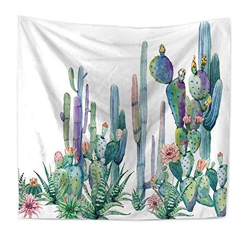 Arazzo singolo in stile celtico, mandala decorazione per la casa, stile bohèmien, motivo mandala, acquerello succulente cactus nuovo arazzo da spiaggia appeso a una coperta da spiaggia, 200x150cm, 001