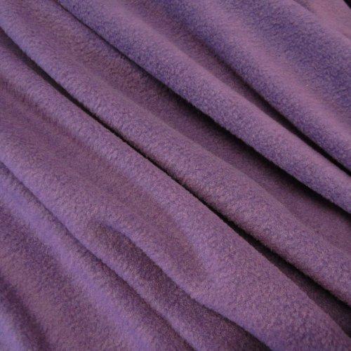Stoff Meterware Fleece Polar - Fleece weich kuschelig lila Kleiderstoff Lila Polar-fleece