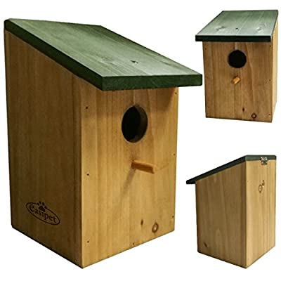 Traditional Wooden Nest Box for Small Birds i.e. Robin, Blue Tit, Sparrow by easipet