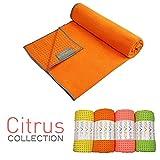 Yogabum la Collezione Agrume Antiscivolo Asciugamani Yoga Mat (Arancia)