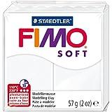 Staedtler pâte à modeler FIMO soft, facile à démouler, durcissant au four, pain de 57 g blanc, 8020-0