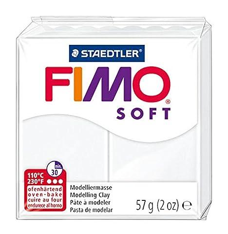 Staedtler 8020-0 Fimo Soft Normalblock, 57 g, weiß