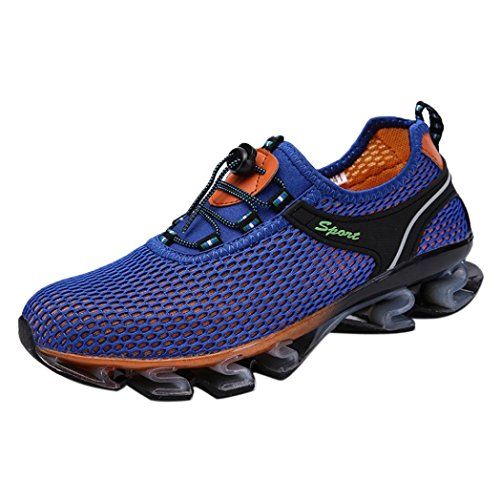 Baskets FantaisieZ Chaussures de Sport pour Hommes Exécution de Glissement de Sneaker de Marche Athlétique en Plein Air Sneakers pour Quatre Saisons Chaussures de Course à Pied
