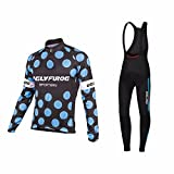 Uglyfrog #04 Radsport Anzüge Herren Winter Warm halten with Fleece Langarm-Radsport-Trikot+Lange Lätzchen Dicht with Gel Pad Breathable Classic Bicycle Set