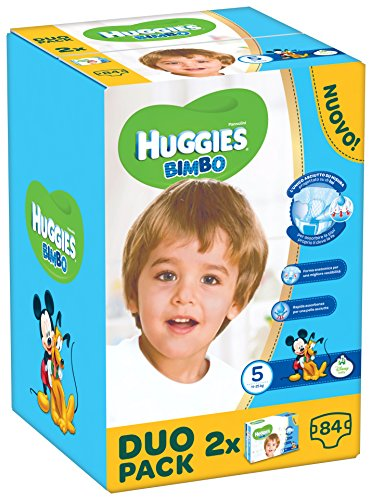 Huggies - Bimbo - Couches - Taille 5 (12 - 18 Kg) - 2 x 42 couches