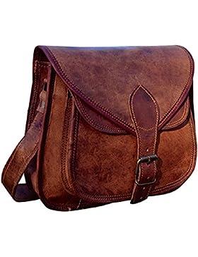 Hand gemacht Designer Echtledertasche SATTEL TABLET BAG retro rustikal Vintage-Umhängetasche