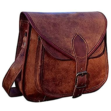 Hand Made Serguio Rogetti Designer Real Leather Satchel Saddle Tablet Hand Bag Retro Rustic Vintage