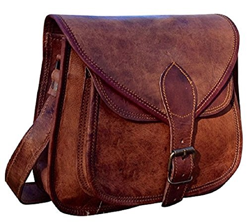 - 51pHtG0NDVL - RARE HANDMADE DESIGNER REAL LEATHER SATCHEL SADDLE TABLET BAG RETRO RUSTIC VINTAGE