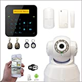 Alarme maison sans fil A9 GSM + Caméra Wifi IP rotative - Appartement T2 / T3