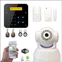 Alarma Casa inalámbrico A9GSM + cámara WiFi IP giratoria–apartamento T2/T3