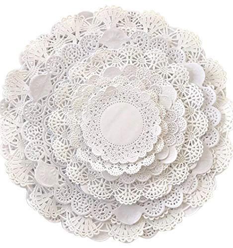 The Baker Celebrations runden Papier Spitze Tabelle Deckchen Verschiedene Größen; Dekorative Geschirr Papiere Tischset, Schönes Sortiment 120 4