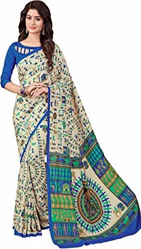 Women's Bhagalpuri Multi-Color Saree with Blouse piece(Baglapuri2_Multi)  available at amazon for Rs.249