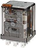 Finder 623382300040PAS - Relé a spina, 3RT 16 A, 250 VAC 230 VAC con pulsante per prova manuale e indicatore meccanico