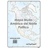 Mapa Mudo SELVI Color Din-A4 América Del Norte Político, Caja x50