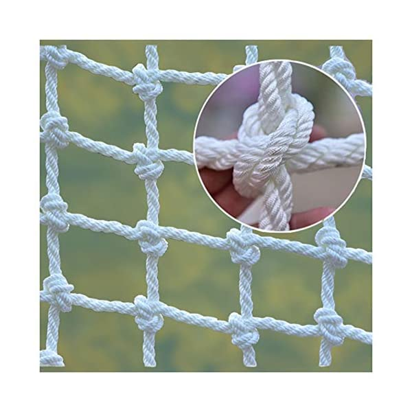 """Mountaineering Net,adult Truck Trailer Heavy Duty Nets Balcony Railing Stair Safety Fence Decoration Cargo Rope Ladder Child Protection Net Used for Container Grid Playground Outdoor Safety Netting XXN ❤Auxiliary image display uses only scene reference,the main picture color is main.The safety net has a diameter of 14mm(0.55"""") and a mesh size of 12cm(4.72""""). The mesh edge is strengthened, the mesh is even, the pulling force is strong, the sunscreen, the weatherproof, the firm and the wearable. ❤The rope net is mainly used for climbing, not only for ordinary children and adults, but also for balconies, stairs, pets, children, gymnasiums, playgrounds, gardens, schools or sports clubs, and isolating truck cargo. It prevents objects from falling and ensures the safety of pets, children, etc. ❤Safety Tip: Regularly check the safety net for safety hazards caused by various external or human factors to protect safety. 1"""