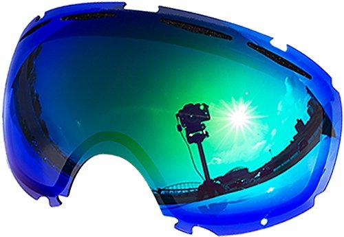 Lentes de repuesto para Oakley Canopy–Gafas antiventisca para nieve, Green Mirror