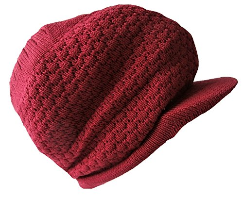 Beanie Hat peaked Rasta Bob Marley Baggie Style