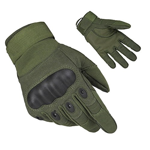 Limirror Herren Taktische Handschuhe Handschuhe Fahrradhandschuhe Motorrad Handschuhe Outdoor Sport Handschuhe Fitness Handschuhe Army Gloves Ideal für Airsoft,Militär,Paintball (Grün,M)