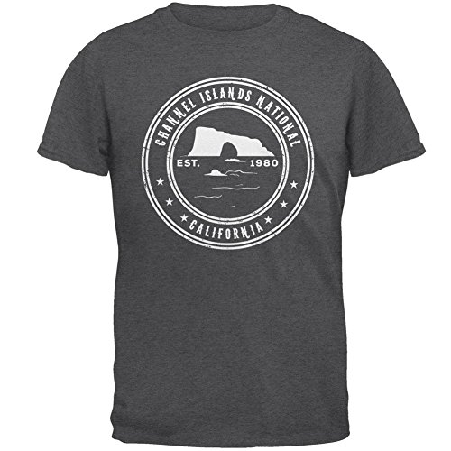 Channel Islands Nationalpark-Herren-T-Shirt Grey