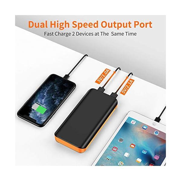Powerbank 10000mAh, Caricabatteria Portatile QC3.0 Batteria Esterna Portatile Carica Veloce con 2 Ingressi e Uscite… 2 spesavip