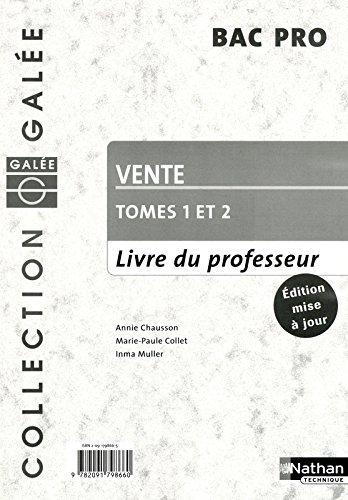 Vente Bac Pro Tomes 1&2