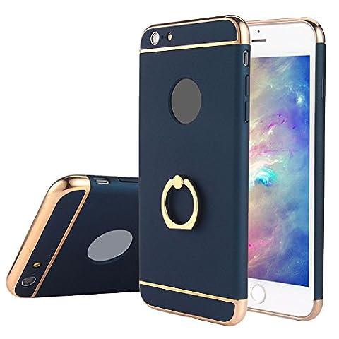 Kobwa iPhone 6s Plus/6 Plus Hülle, 3 in 1 Ultra Dünner Harter 360 Grad Ring Anti-Kratzer Stoßfestes Elektrodengestell mit Beschichteter Oberfläche Ausgezeichneter Griff-Fall für Apple iPhone 6s Plus/6 Plus