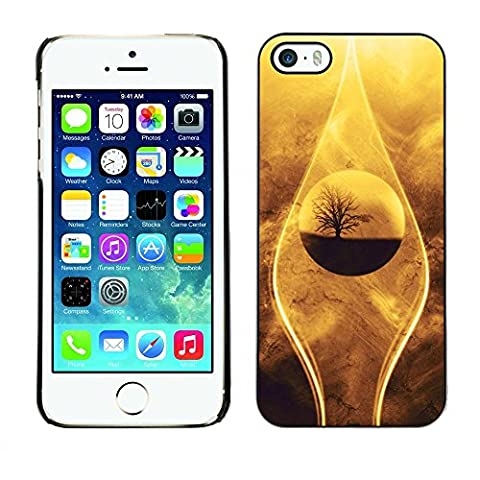 Paccase / Tasche Schutzhülle Case Cover Hülle Für - Nature Beautiful Drop Tree Sand Desert Oasis - Apple Iphone 5 / 5S